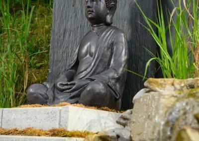 Buddha Landhotel Anna Garten Wasserstelle
